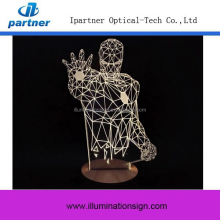 3D Table Led Night Light USB Charger, 3D Lamp Light