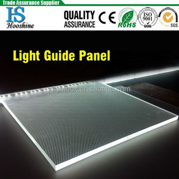 Optical acrylic PMMA LED light panel / plate / light guide panel for ceiling light, light boxes, lamps