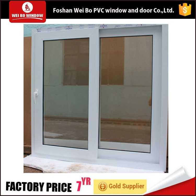 Horizontal cheap price pvc sliding sash windows