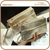 2015 New Fashion Crocodile Emboss PU Leather Satchel Bag Clutch Shoulder Bags for Lady