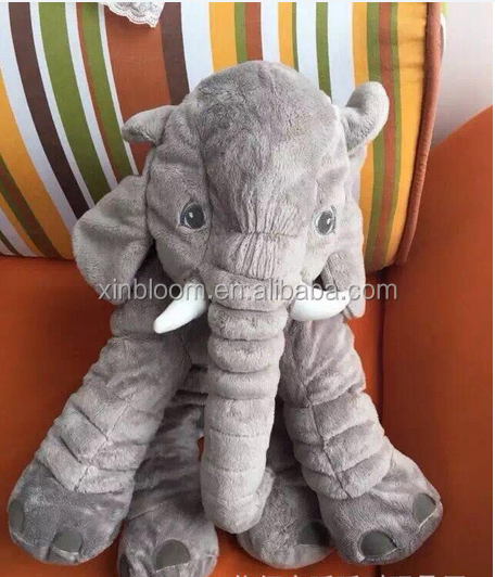 creative lovely cartoon style grey elephant modeling plush toy doll baby's sleeping pillow cushion