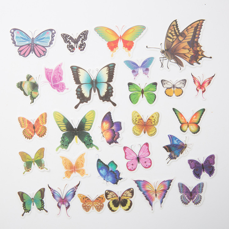 Wholesale die cut beautiful stocks Butterfly Sticker with printing