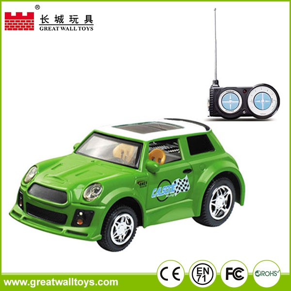 Mini plastic 1:52 4 channel rc simulation vehicle high speed remote control stunt car