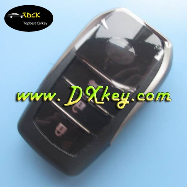 New style crown 3 buttons car key cover remote key shell for Toyota with toyota logo with emergency key