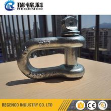 Lifting Rigging HDP Zinc Galvanized Screw Pin Chain shackle safety anchor US Type long d shackle