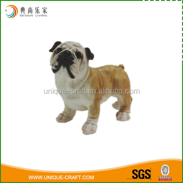 new desigh resin craft dog statues for home decoration