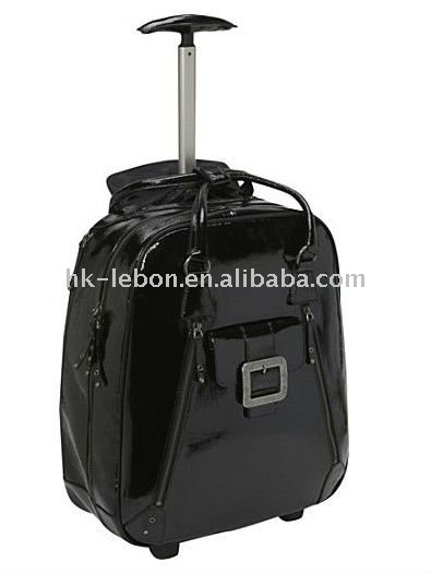 "Patent leather 15"" Laptop trolley"