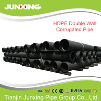HDPE Double-Wall Corrugated Pipe 600 mm corrugated pipe price road culverts
