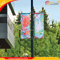 flex PVC Vinyl street lamp pole vertical outdoor banner