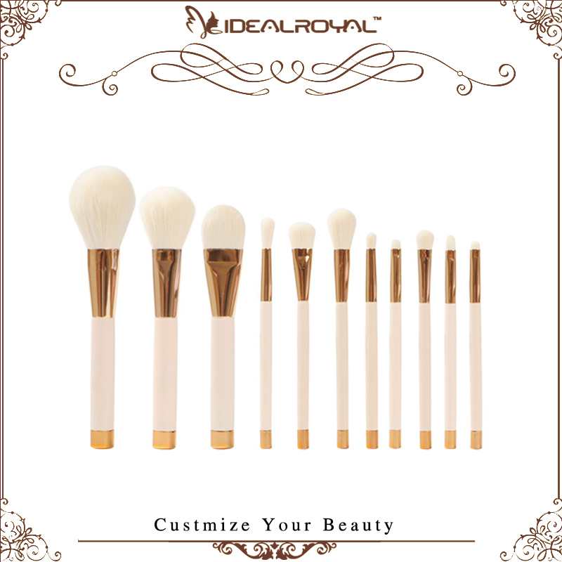 11pcs best quality makeup brush set cosmetic tools natural hair brushes