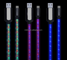 Mobile Phone Fashing LED Cell Phone Charging Cable USB Sync Data Charger Cable Cord for Android Samsung
