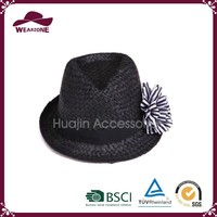Wholesale high quality summer ladies dress straw hat made in China