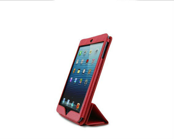 Exquisite full protective frame leather case for ipad mini,OEM leather case factory for ipad mini