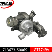 Aftermarket GT1749V turbine turbo garrett 713673-5006S for A4, Golf engine