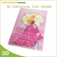 3D Lenticualr A4 PP L Sharped File Folder for kids