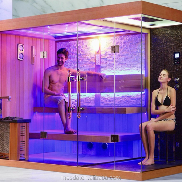 2018 hot sell sauna combine the dry sauna and the steam shower WS-1388