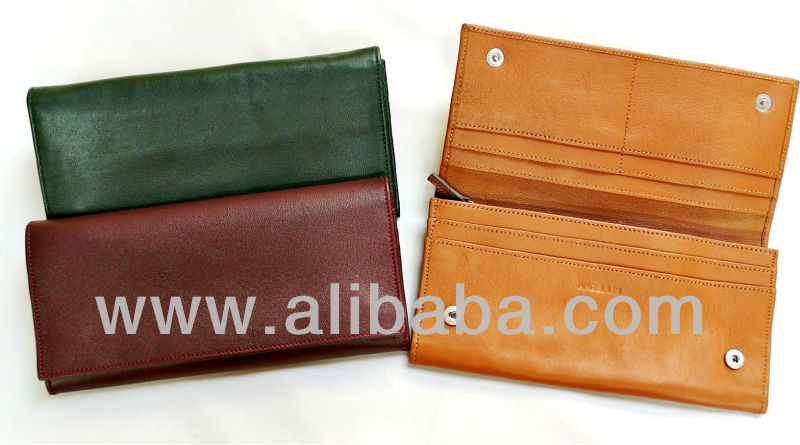 BELLA - 100% Handmade Genuine Leather Soft Lambskin Women Designer Wallet Purse