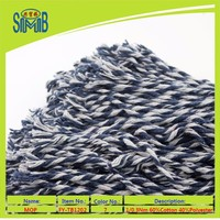 china yarn producer smb best wholesales on cones 6 plys very cheap recycled dyed colored cotton polyester mop yarn