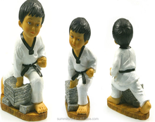 Korean power boy resin traditional souvenirs taekwondo