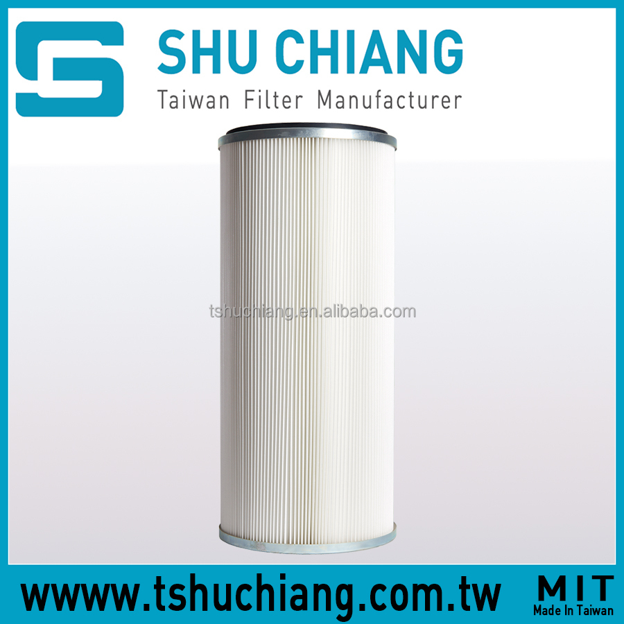 Double Open End TSC-C240 Industrial Polyester Dust Collector Air Filter Cartridge