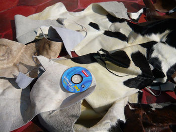 Hair-on cowhide cuttings - Hair-on cowhide scraps