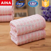 100% Pakistan cotton cheap promotional yarn-dyed jacquard weave big face towel