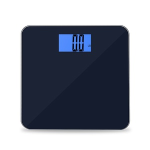 Household Use High Precision Load Cell LCD Screen Body Weight Aiwill Bathroom Scale With Glass