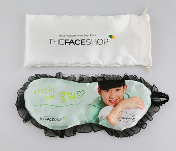 Promotional custom print logo sleep eye mask
