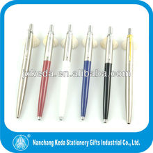 2017 high quality hot selling silver body gold parts cheap ball pen