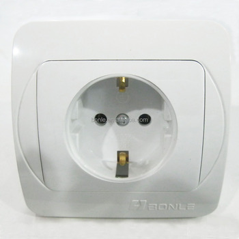 Flushed mounted wall socket