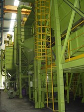 Foundry resin sand reclamation/recycling/regeneration line