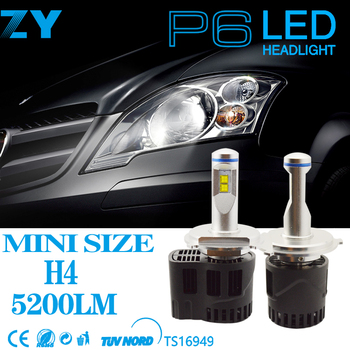 P6 series taiwan headlights  55w 5200lum led headlights motorcycles also named jeep wrangler headlights