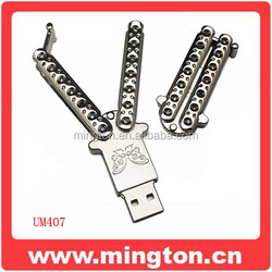 Butterfly knife usb flash drive cutter