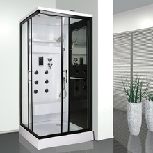 China supplier hot sale two sliding glass door square style steam bath shower cabin