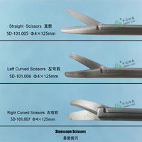 ENT medical sinoscope scissors