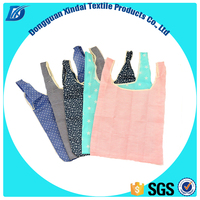 OEM manufacturer direct supply Cute standard size foldable 190T polyester shopping bag