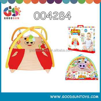 Top selling and environmental material baby activity gym folding play mat baby pig mat