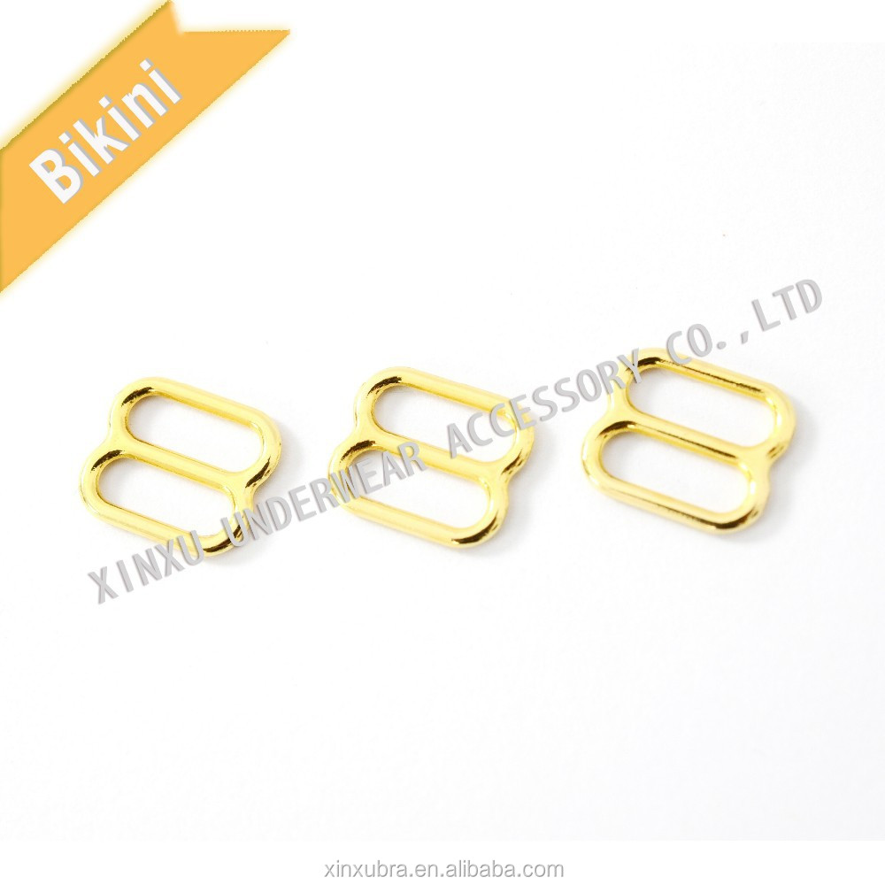 alloy metal slider/bra adjusters/swimwear accessories