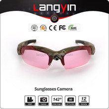 3 Paterns Wide angle 142 degree 1080P camouflage video sunglass camera,1080P video camera glasses water proof