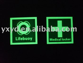 photoluminescent marine signs/glow in dark signs