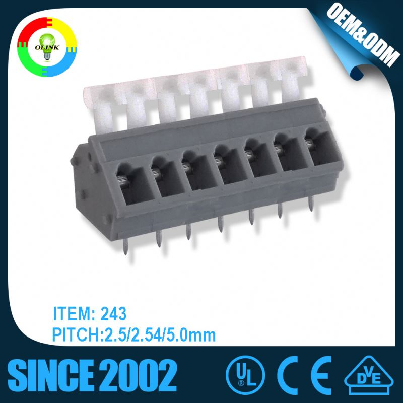 3.5mm/5.0mm/7.5mm pitch ballast screwless spring cage terminal block