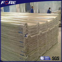 UV protection Environmentally Friendly FRP Corrugated polyurethane roofing sheet for shed, wall