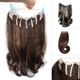 New arrival one piece clip in hair extensions with thickness brown hair wavy
