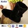 new arrival soft senior waterproof faric snow rubber boot