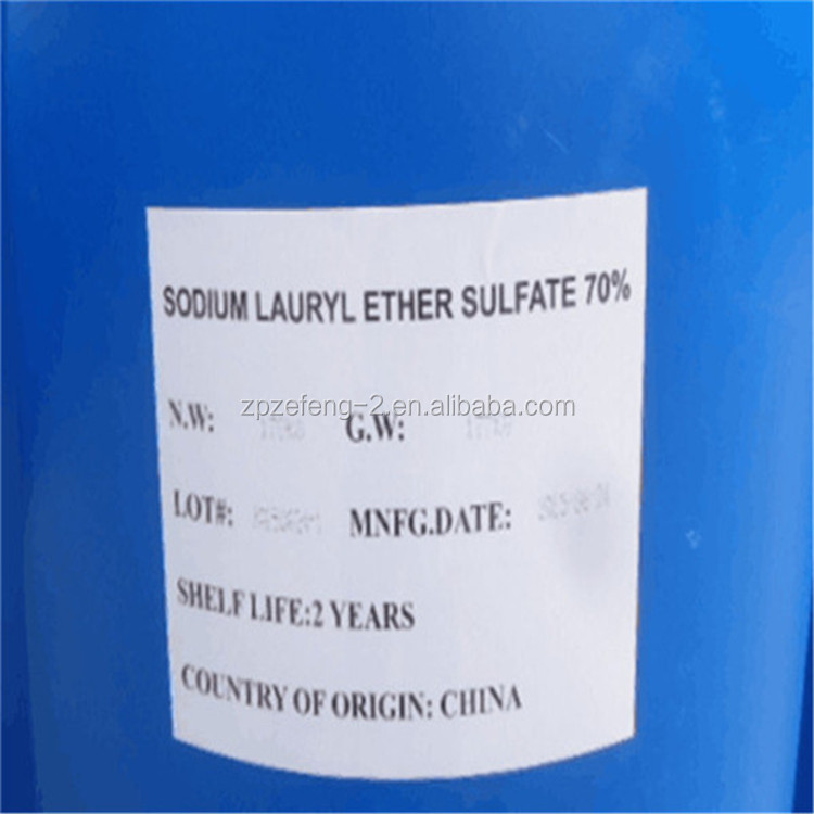 Cosmetic and Detergent grade SLES N70, Sodium Lauryl Ether Sulfate 70% factory price