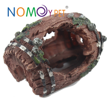 Nomo Aquarium Fish Tank Artificial Barrel Resin Ornament Cave Landscaping Decoration
