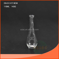 115ml clear glass bottle with small mouth