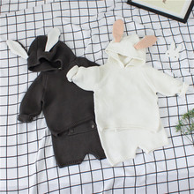INS1086-1 New model cute rabbit knitted wholesale boys and girls clothing sets