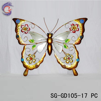 home decorations metal butterflies wall hangings