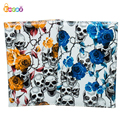Encai Unique Skull Pattern Passport Holder Travel PU Passport Cover